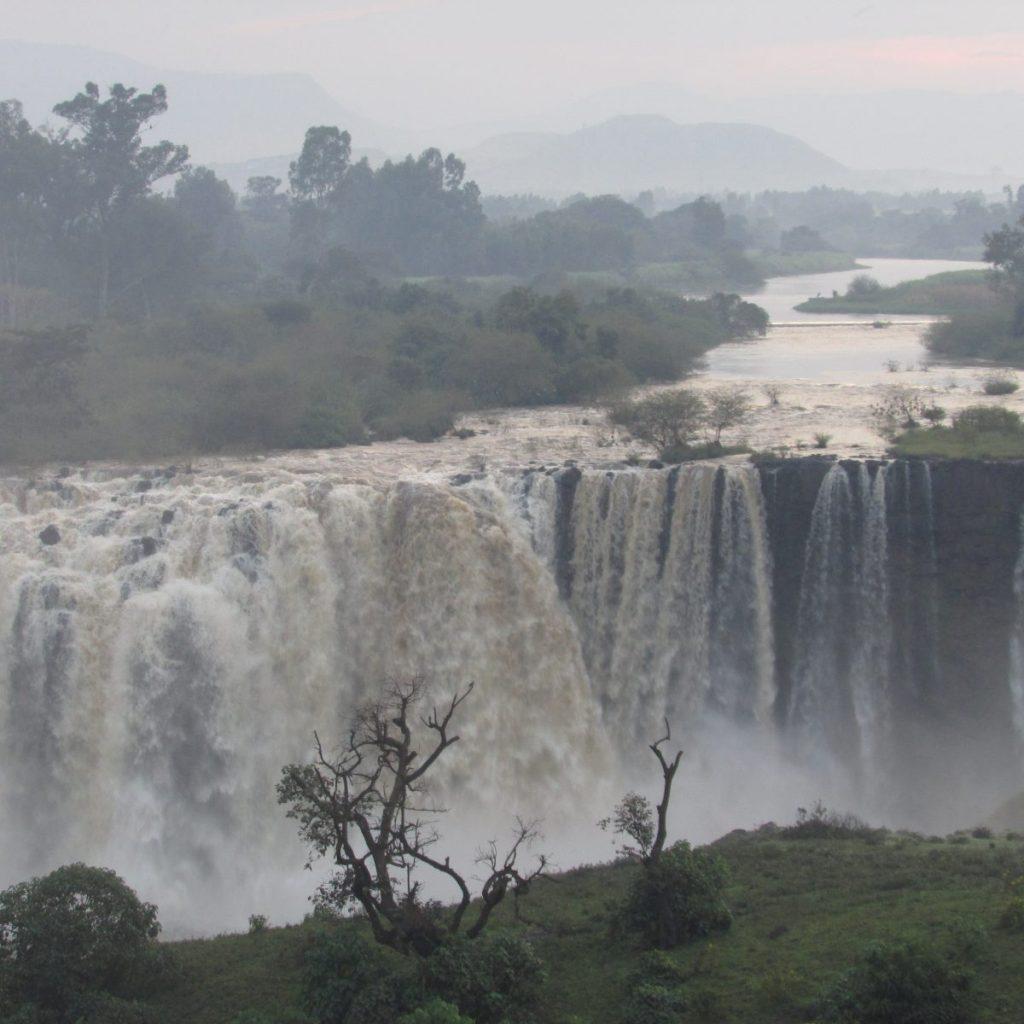מסלול אפשרי למפלי הנילוס הכחול