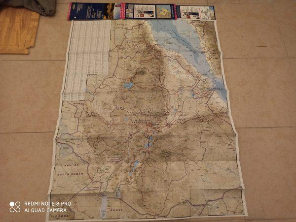 מפת אתיופיה בעברית